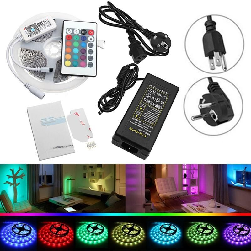 DC12V 5M SMD5050 RGBW Non Waterproof Smart Wifi Alexa Phone APP Control LED Strip Lights Kit