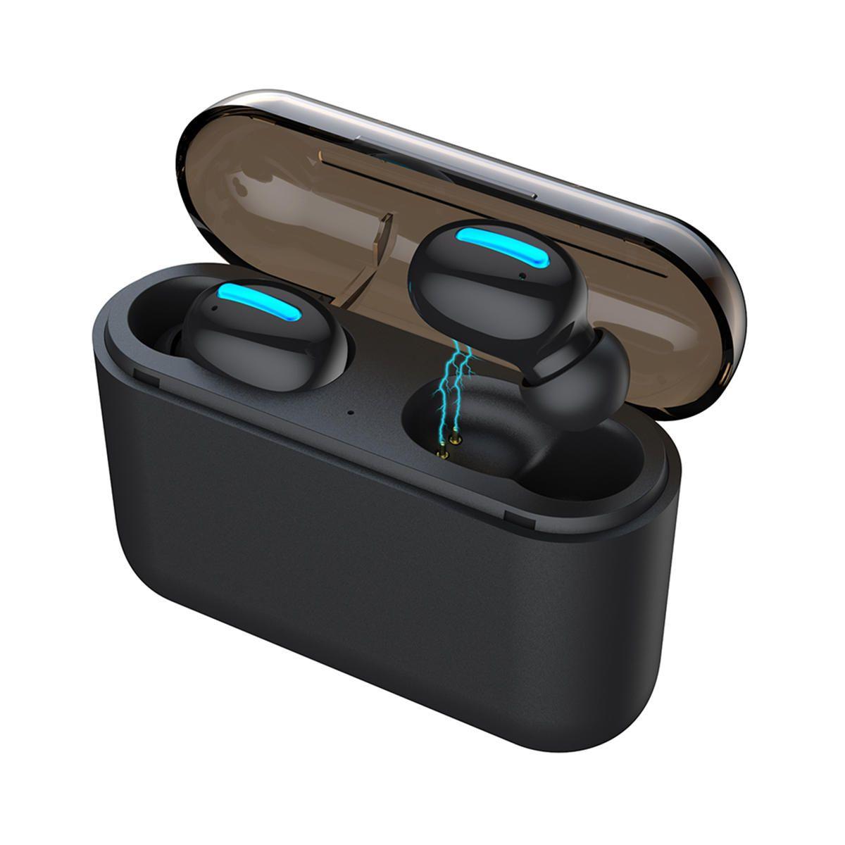 Q32 Stereo bluetooth 5.0 TWS Headphone IPX5 Waterproof True Wireless Earphone With 2600mAh Power Bank Charging Case