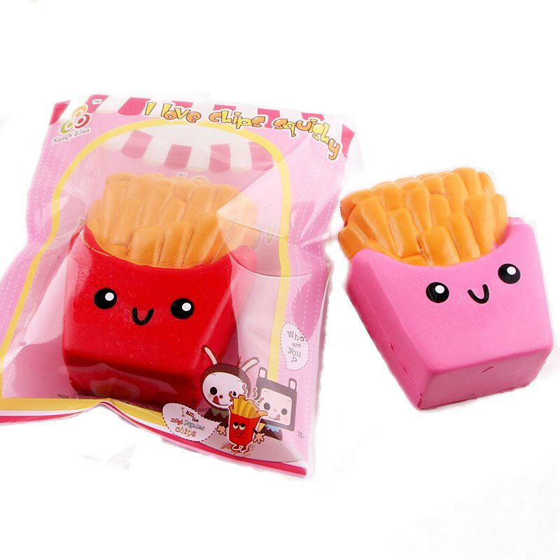 TUW US$2.66 SanQi Elan Squishy French Fries Chips Licensed Slow Rising With Packaging Collection Gift Decor Toy