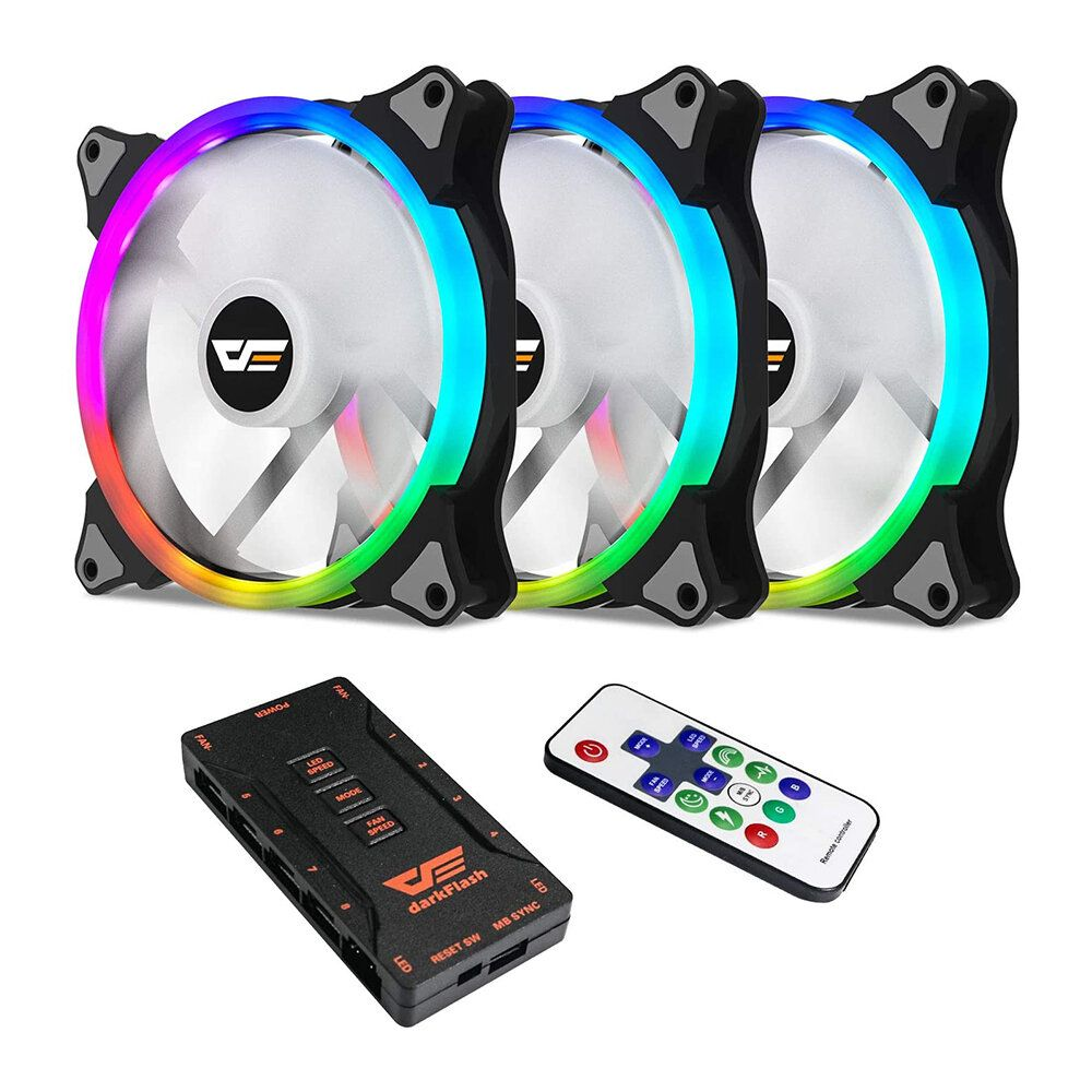 Aigo darkflash CS140 3 in 1 RGB PC Case LED Cooling Fans 140mm Remote Control Computer CPU Cooler Fan Radiator for Computer PC