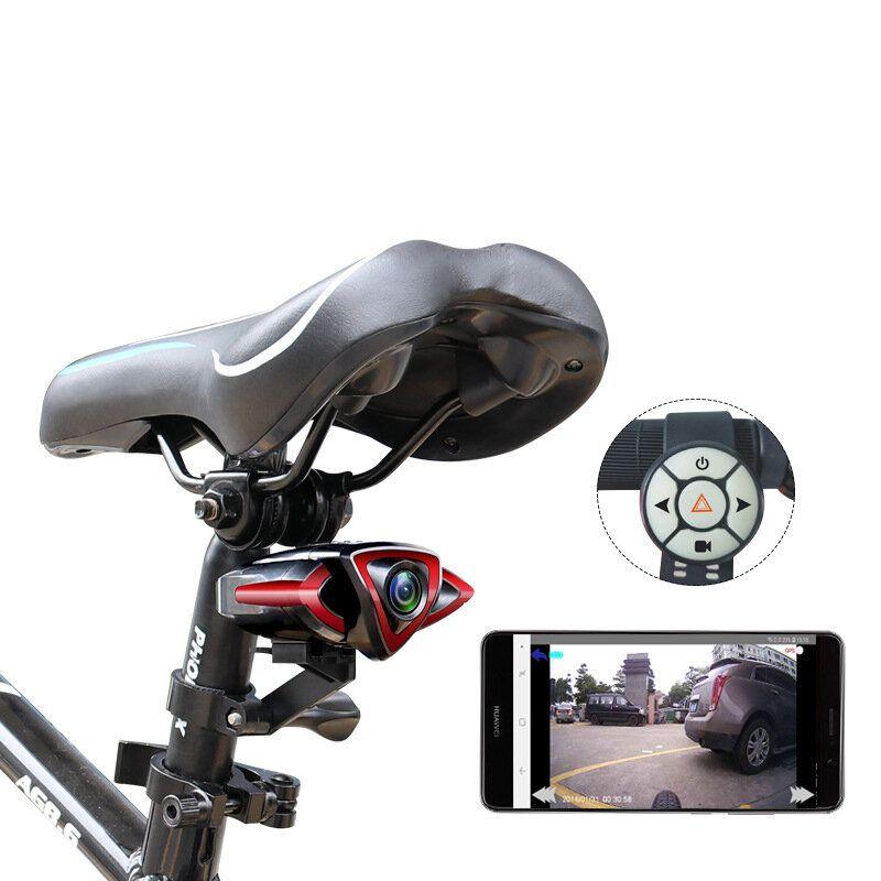 XANES® 160° Wide Angle Bike Driving Recorder HD Front/Rear Camera Sports Car DVR Camera Portable Video Recorder Waterproof Turn Signals