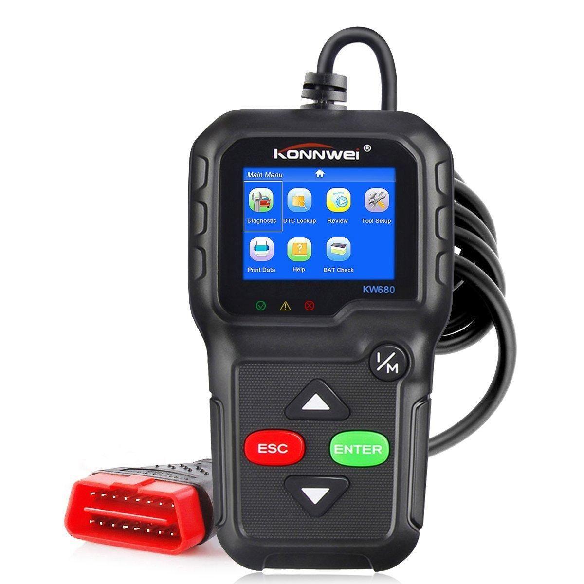 SXW US$47.99 KONNWEI KW680 OBD2 Code Reader Universal Car Diagnostic Scanner Tool Full OBDII EOBD Functions