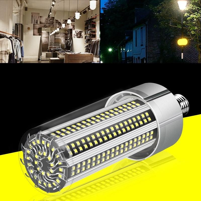 AC100 277V E27 100W No Strobe Fan Cooling Camping Home Garden 366 LED Corn Light Bulb