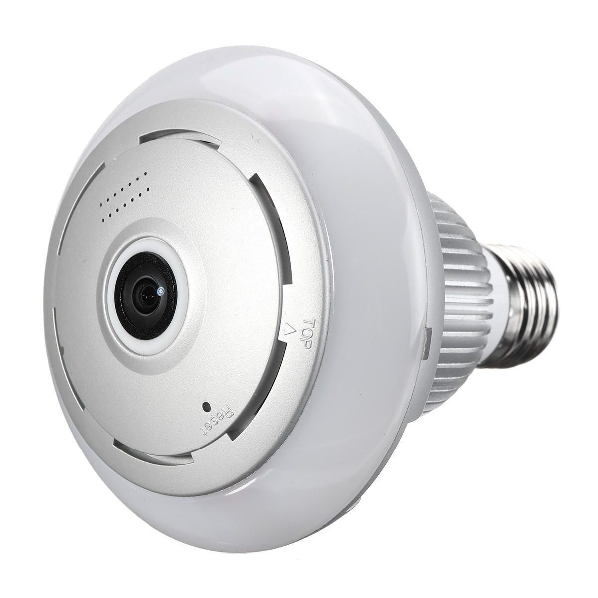 360° WiFi Wireless Panoramic 960P Fisheye Light Bulb IP Camera Lamp APP Control