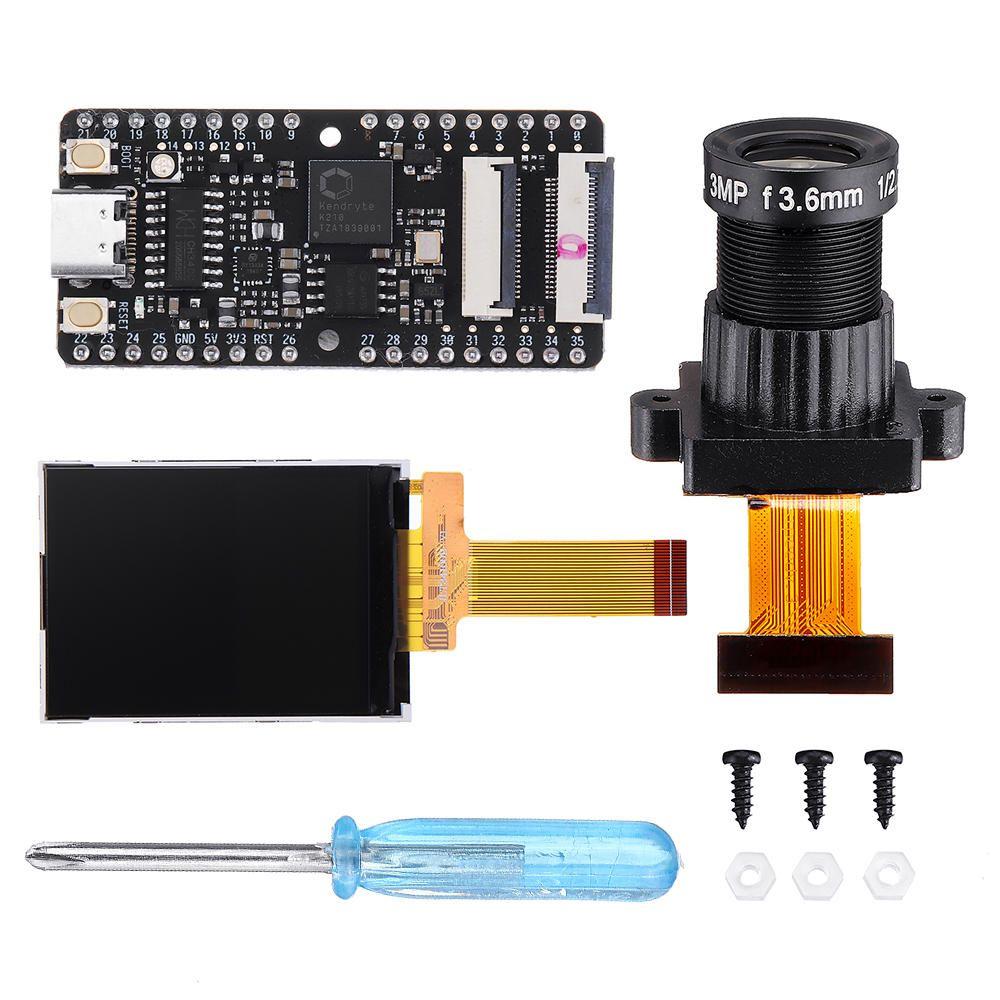 UHG US$38.47 Sipeed Maix-BIT RISC-V Dual Core 64bit CPU Development Board Mini PC + Large Lens + Display Screen Kit