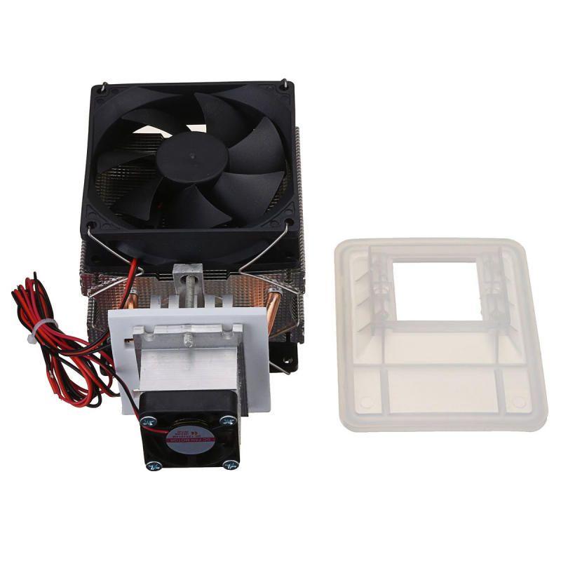 UKX US$36.24 12V 6A 72W Thermoelectric Peltier Refrigeration Cooling Cooler Fan System Heat Sink Kit Cooler