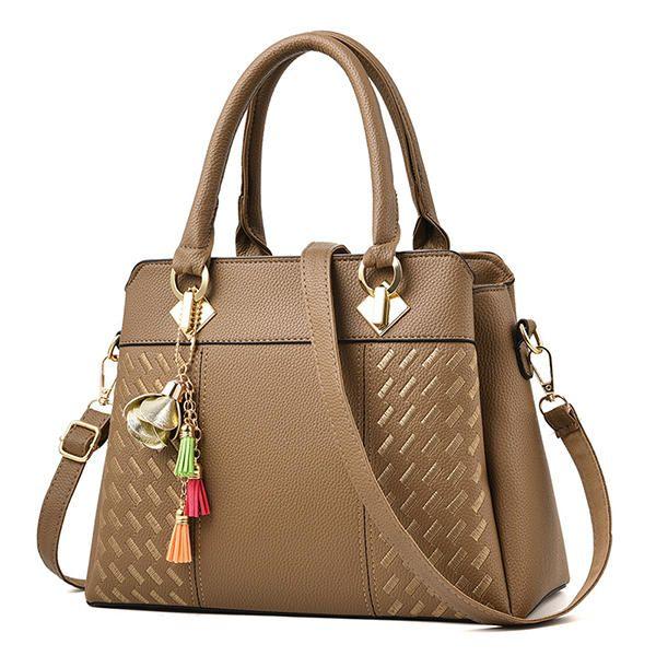 Women Plaid Small Pendant Designer Handbags Tote Bag