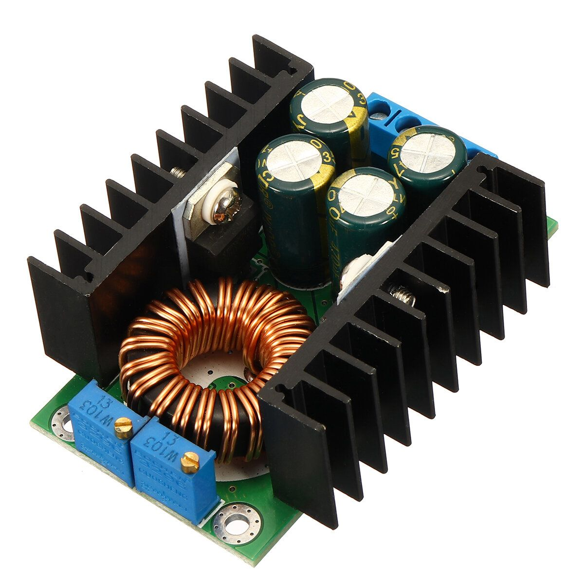 XFW US$3.99 DC-DC CC CV Buck Converter Board Step Down Power Supply Module 7-32V to 0.8-28V 12A
