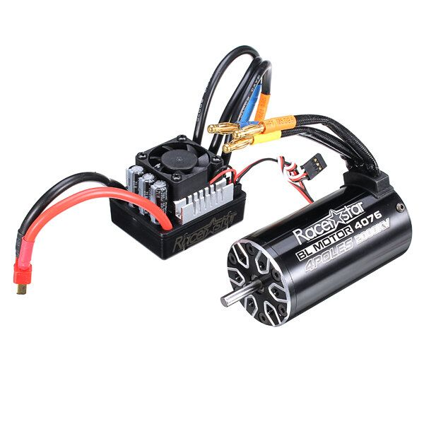 Racerstar 4076 Brushless Waterproof Sensorless Motor 2000KV 120A ESC 1/8 Cars RC Car Parts