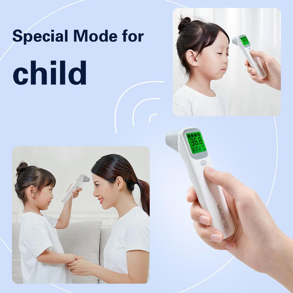 YES US$27.25 KCASA Baby Infrared Digital Thermometer LCD Body Measurement Fever Body IR Forehead Ear Non-Contact Adult Children Temperature Sensor