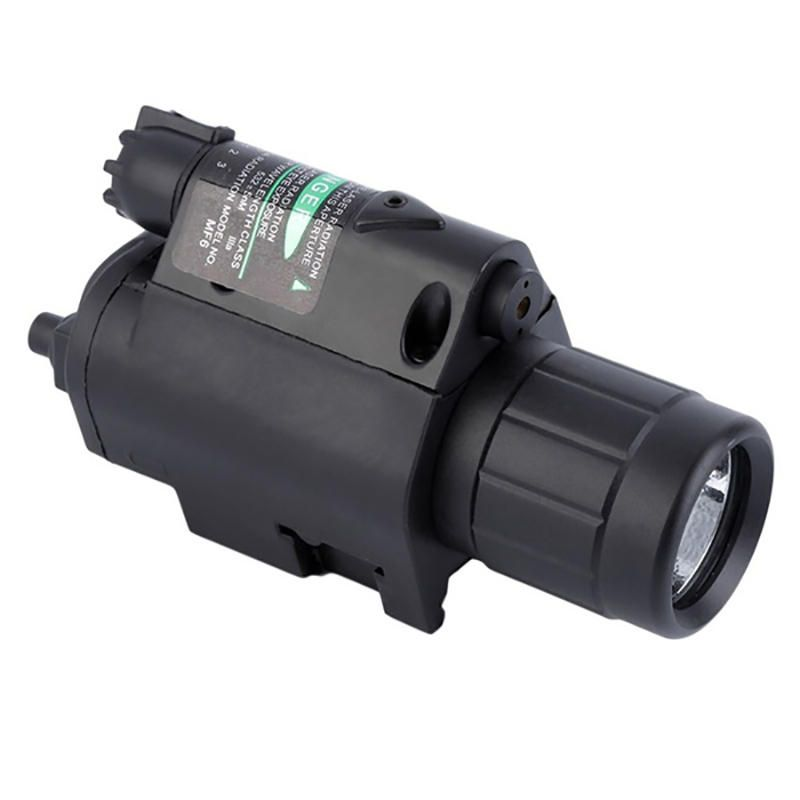 2 in1 XANES LF13 525nm Green Laser Pointer Hang Type Rail Mount Locator with Portable Foregrip Work Light