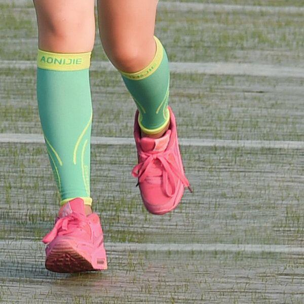 Mens Women Sport Cycling Calf Compress Stocking Football Basketball Calf Protectors Leggings Socks