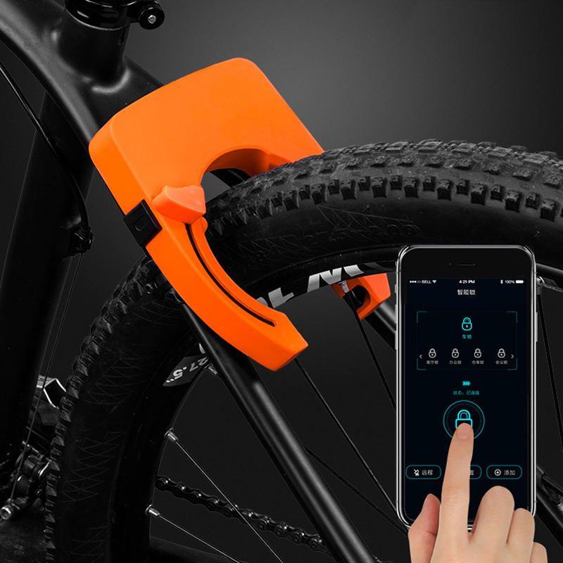 BIKIGHT 806 Zinc Alloy bluetooth Smart Control Horseshoe Clamp Anti theft Removal proof Bike Lock