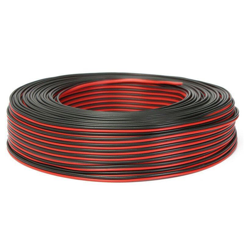 100m 2 x 0.50mm Audio Cable Loudspeaker Speaker Wire Black/Red HiFi/Car Motorcycle