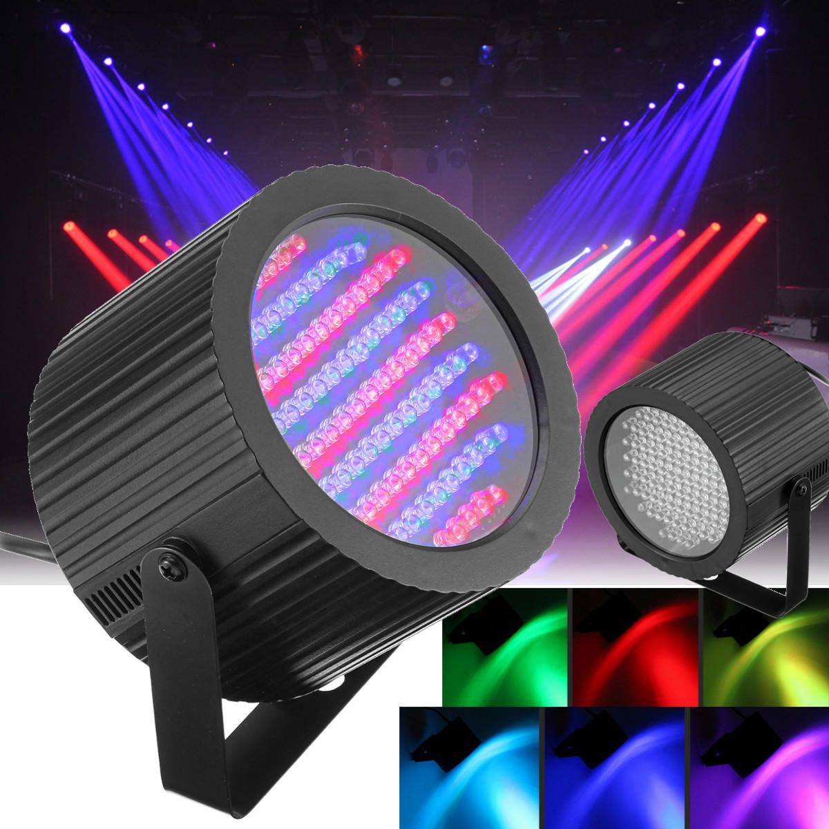 SPB US$32.13 2pcs 86 LED RGB Sound Active Stage Light DMX DJ Disco Club Bar Strobe Lighting