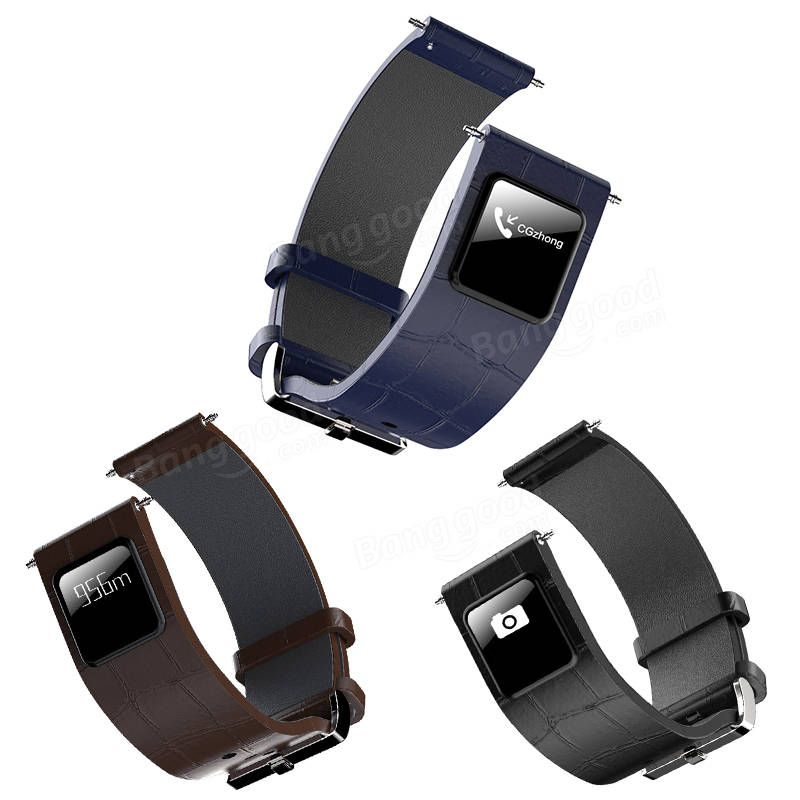 22mm Smart Wristband Strap Leather with Frame for H1 Smart Watch