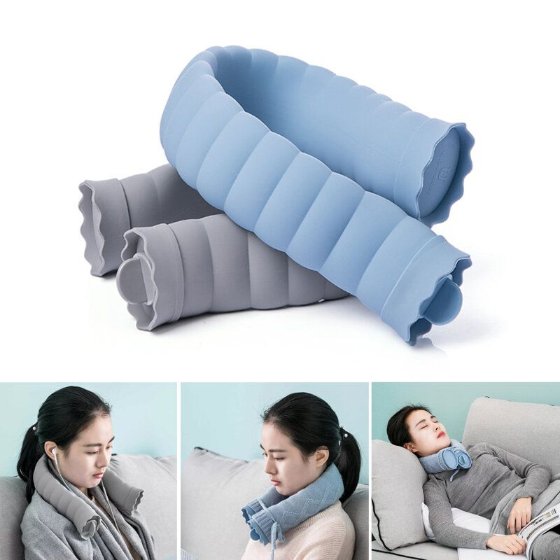 Xiaomi 710ml U Shape Hot Water Bag Silicone Bottle Neck Hand Warmer Heater With Knitted Cover