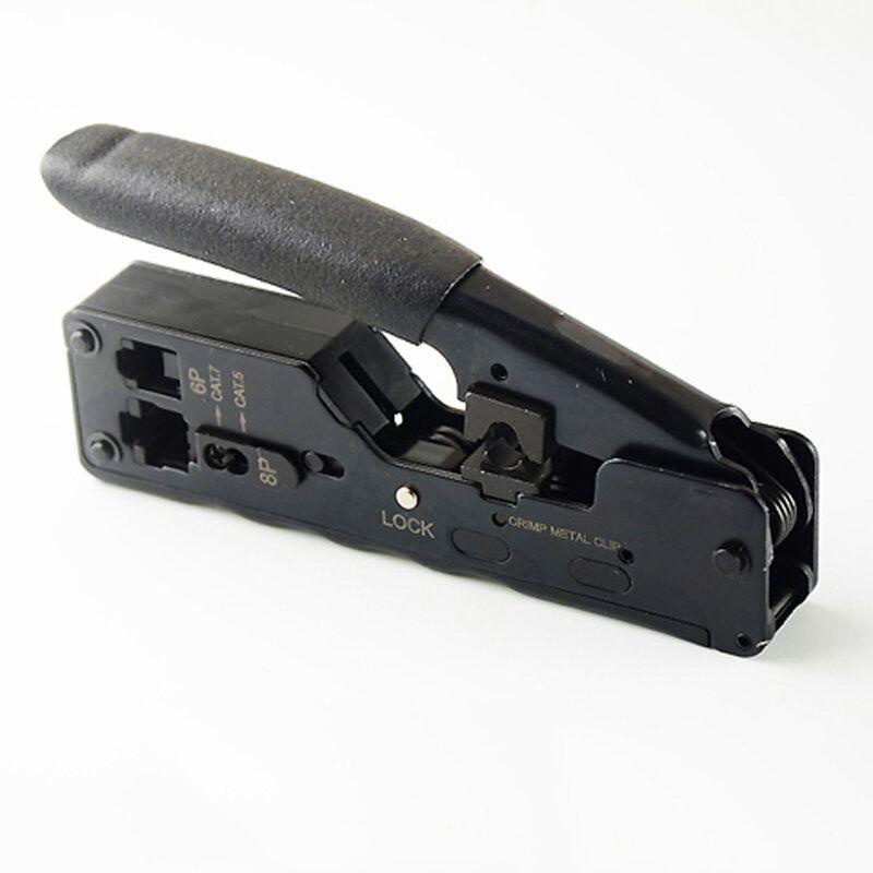Network Telecom Crimper Plier Crimping Tool For RJ45 RJ11 Cat7 Cat6A Cat5 Modular Plugs Metal Plier Crimper Combo