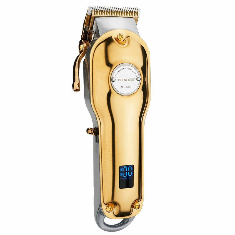 NK 1769 Electric Full Metal Hair Clipper Household USB Charging Hair Trimmer Barber Rechargeable Hair Trimmer Hair Shaving Machine Beard Cut
