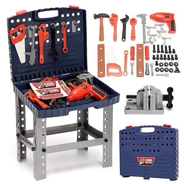 69Pcs Play House Engineer Tools Set Kids Repair Tools Box Pretend Play Toys