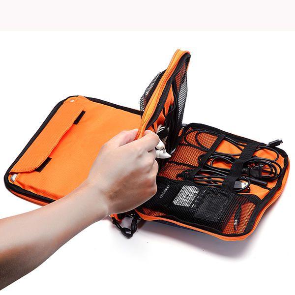 Casual Multifunctional Canvas Multi Pocket Ipad Store Bag Phone Bag Storage Bag