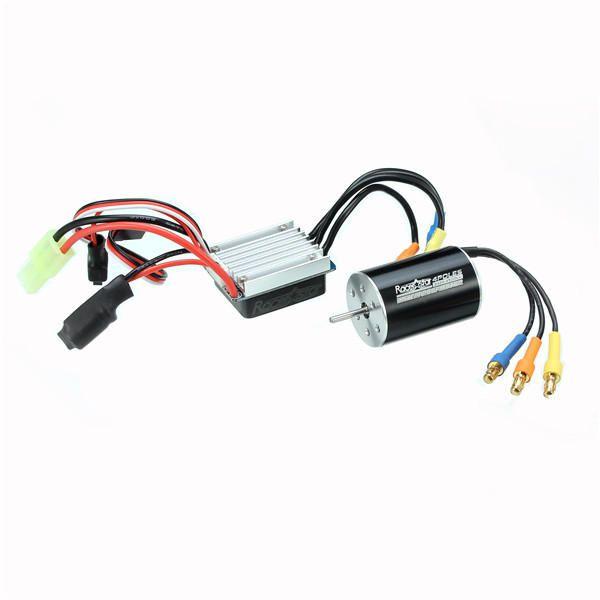 YZI US$29.47 Racerstar 2435 Waterproof Brushless Sensorless Motor 4500/4800KV 25A ESC For 1/16 1/18 RC Car