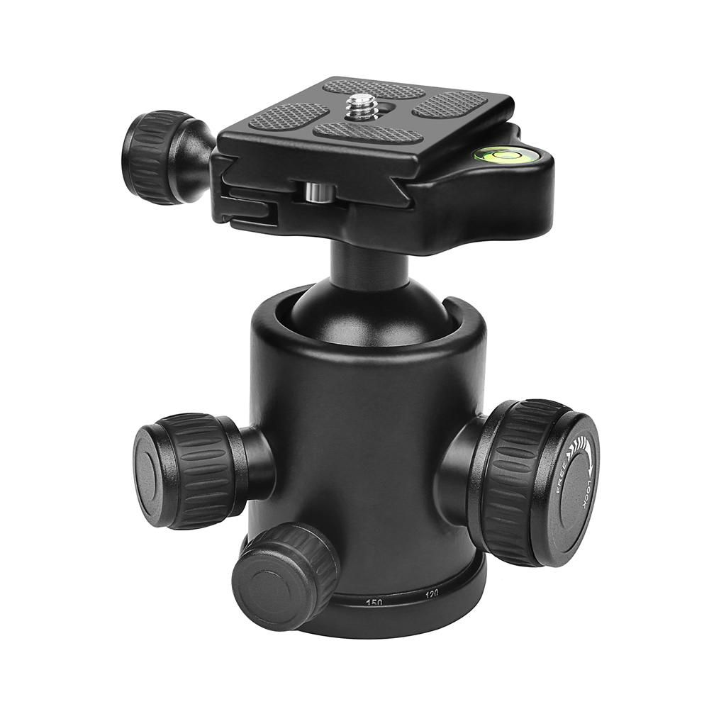 SHOOT XTGP444 Professional Mini 360 Degree Fluid Rotation Tripod Head Ball for DSLR Camera with Quick Release Plate 1/4inch Screw Max Load 10kg