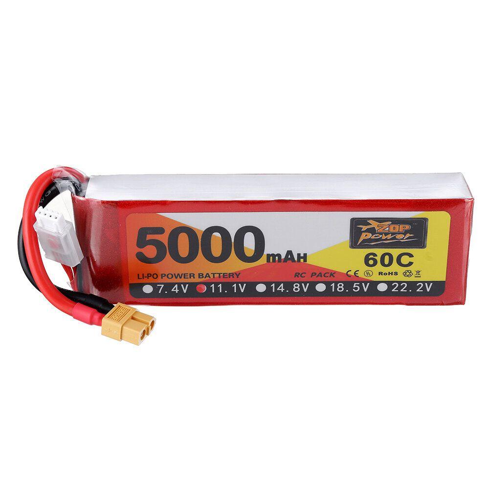 ZOP Power 11.1V 5000mAh 60C 3S Lipo Battery XT60 Plug For RC Quadcopter Car Airplane