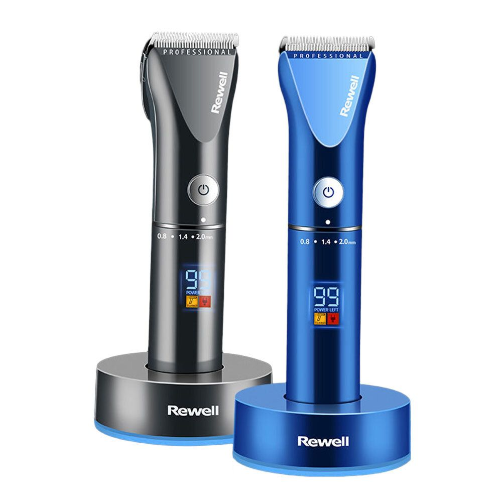 REWELL RFCD F17 Professional 100 240V Hair Clipper Rechargeable Trimmer Titanium Alloy Blade Cutter Adjustable Comb Fine Tuning Man Hair Cutting Machine