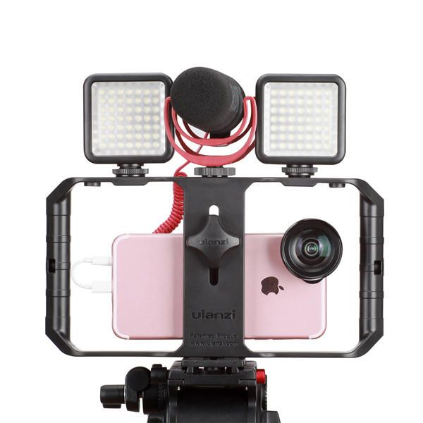 Ulanzi U Rig Pro 3 Shoe Mount Smartphone Video Rig Filmmaking Handheld Stabilizer Grip with Fill Light