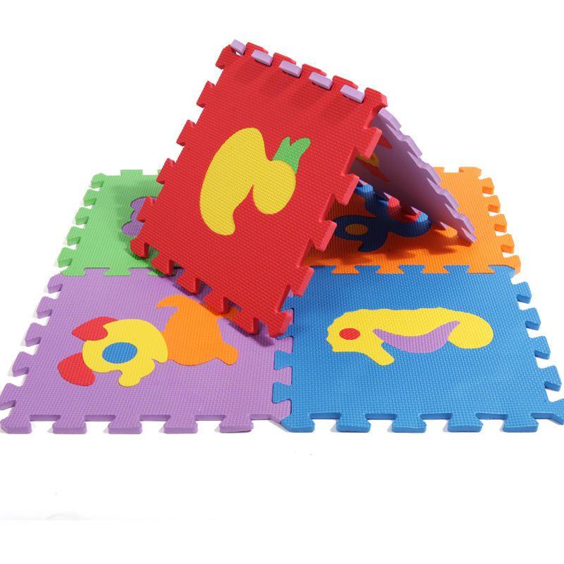 10pcs Cartoon Animal Puzzle Mat Kids Play Mat Anti fall Crawling Mat Carpet in The Nursery Baby Activity Mat