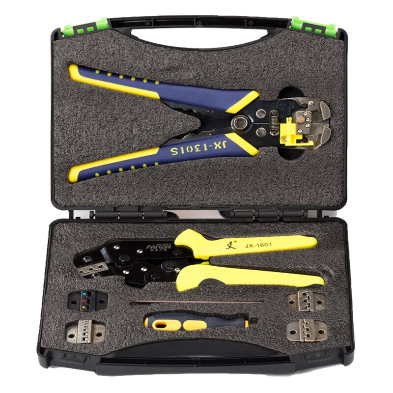 Paron® JX D5301 Multifunctional Ratchet Crimping Tool Wire Strippers Terminals Pliers Kit