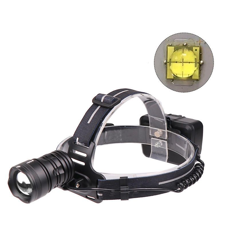 XANES® XHP70 2000LM Headlamp 18650 Battery USB Interface 3 Modes Telescopic Zoom Waterproof Camping Hiking Cycling Fishing Light Portable Flashlight