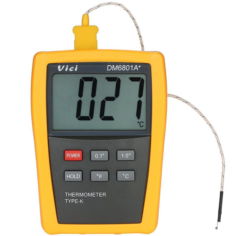 Vici DM6801A+ Mini LCD Digital Thermometer Temperature Meter Tester with K type Thermocouple
