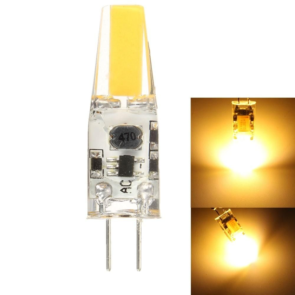 30X DC/AC12V Dimmable G4 2W Warm White COB LED Bulb Chandelier Light Replace Halogen Lamps