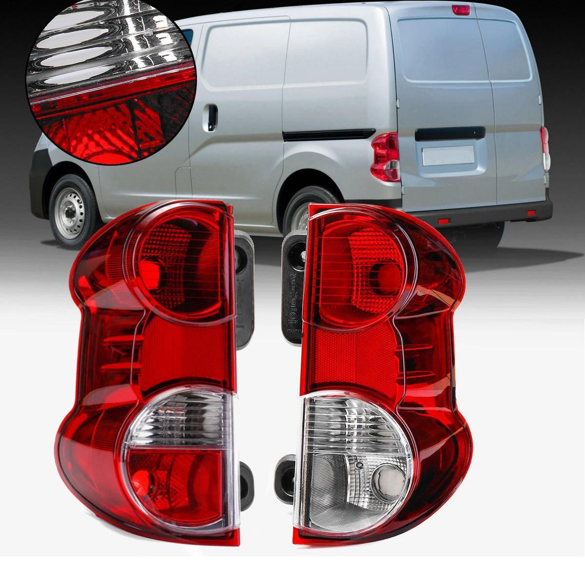 DZA US$33.99 Left/Right Red Car Rear Tail Light Shell Brake Lamp Cover for NISSAN NV200 2009-2013