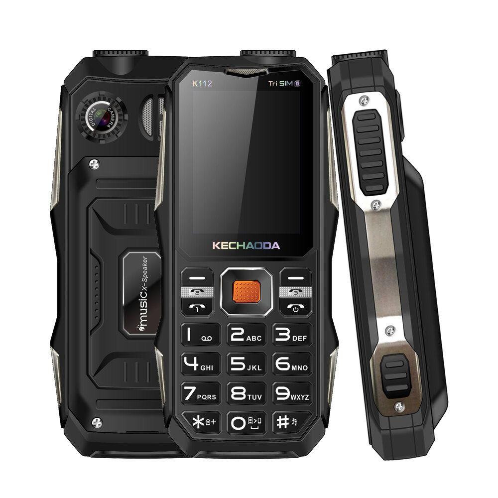 KECHAODA K112 2.4 Inch 3200mAh Power Bank With FM Flashlight Dual Camera 3 SIM Card 3 Standby Feature Phone