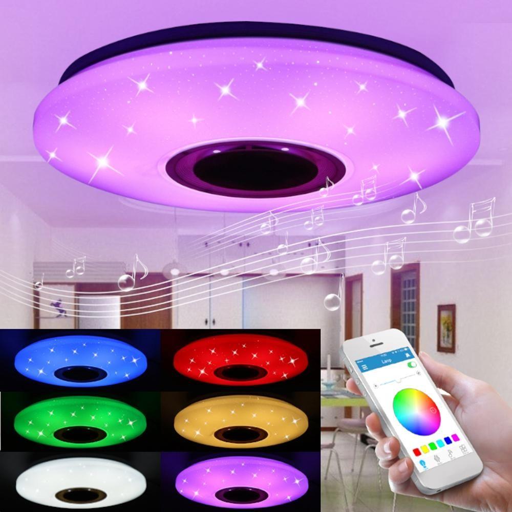 48W 102 LED RGBW Starlight Ceiling Lamp Music Light bluetooth Parlour Bedroom