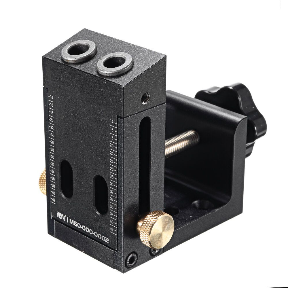 9mm Aluminum Alloy Pocket Hole Jig System Kit Quick Acting Clamp with Drill and Screwdriver Bit Set