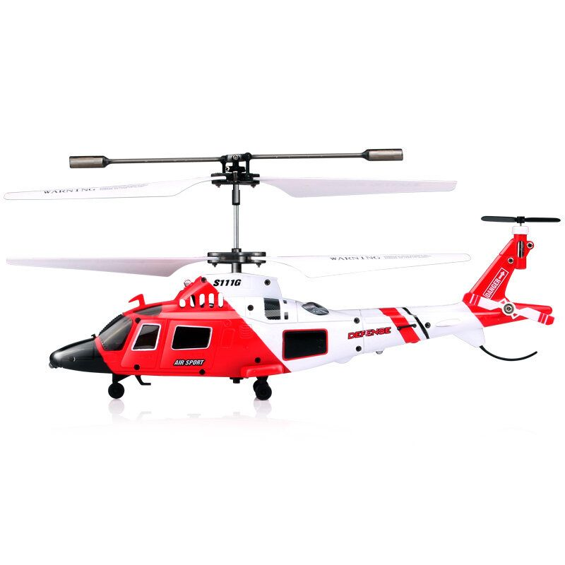 SYMA S111G 3.5CH 6 Gyros Flybar RC Helicopter RTF Agusta Military Model Kids Toy