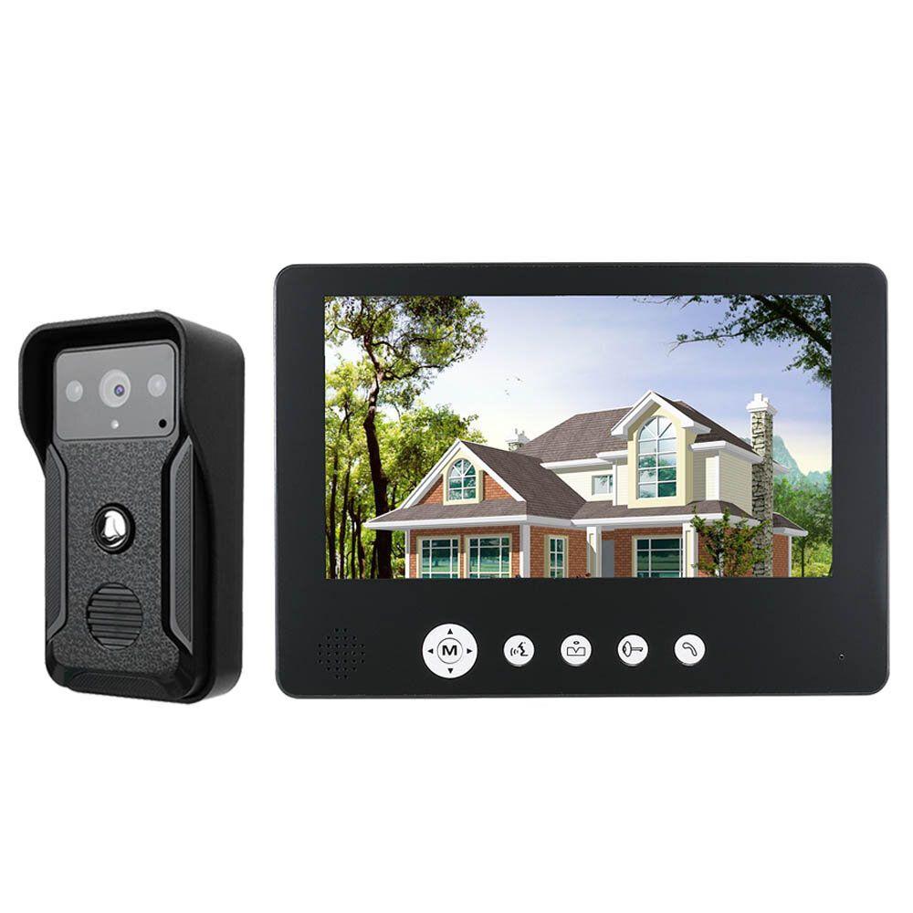 ENNIO 9 Inch Video Door Phone Doorbell Intercom Kit 1 camera 1 monitor Night Vision