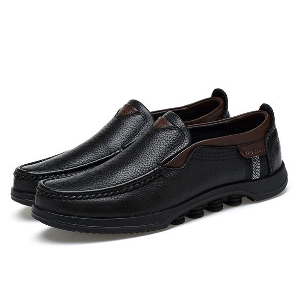 Menico Large Size Soft Leather Flats