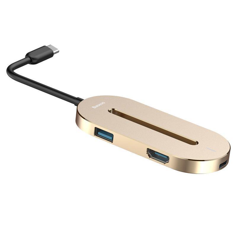 Baseus O HUB 5 Port Desktop Type C Multi function Converter Expansion For iPhone Macbook iPad Tablet