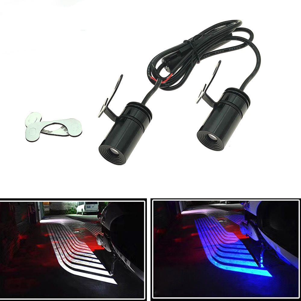 Pair LED Warning Signal Universal Angel Wings Car Motorcycle Welcome Shadow Decoration Light Lamp