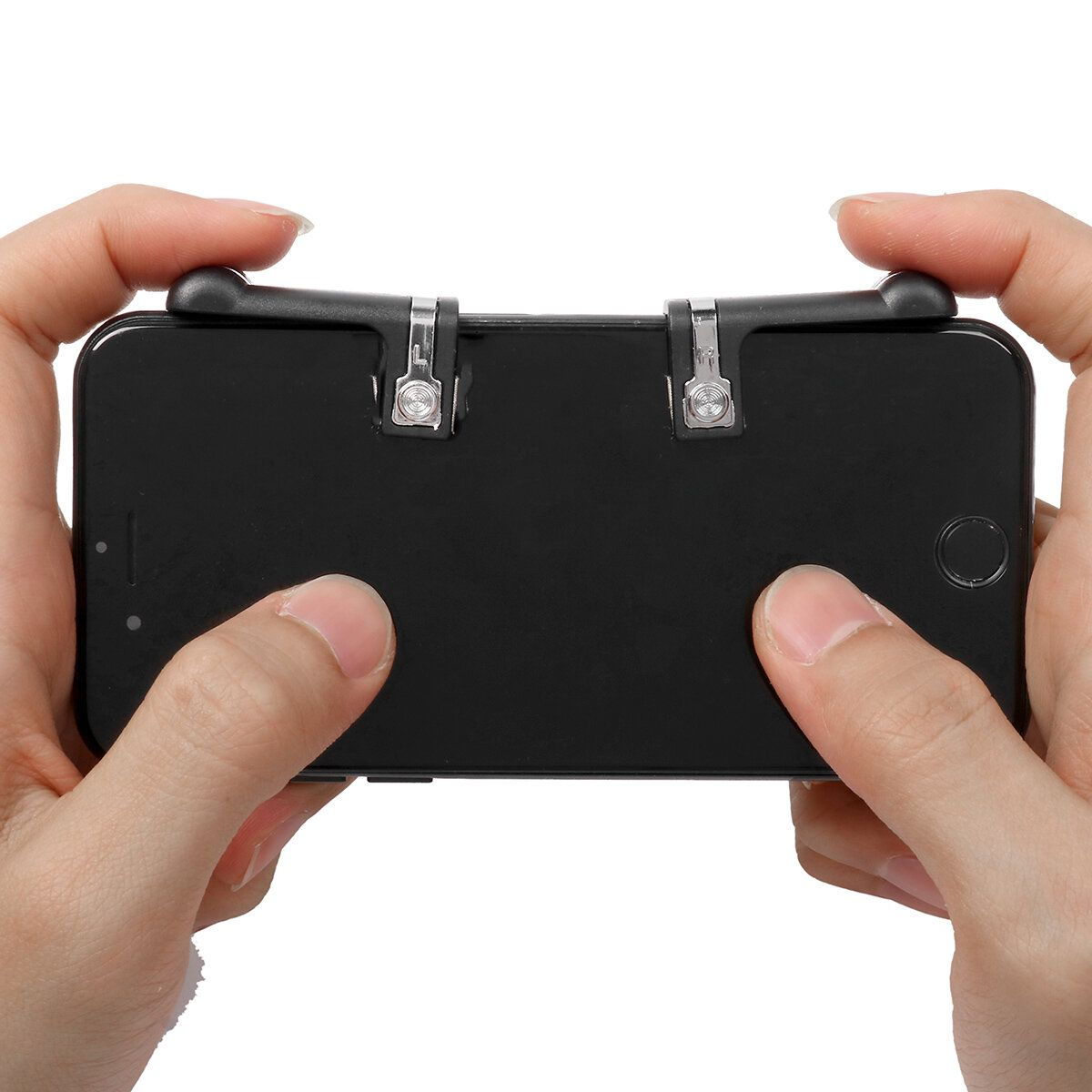 HNW US$4.16 Game Controller Shooter Mobile Gaming Aiming Fire Trigger Button Handle L1R1 for PUBG Mobile Game