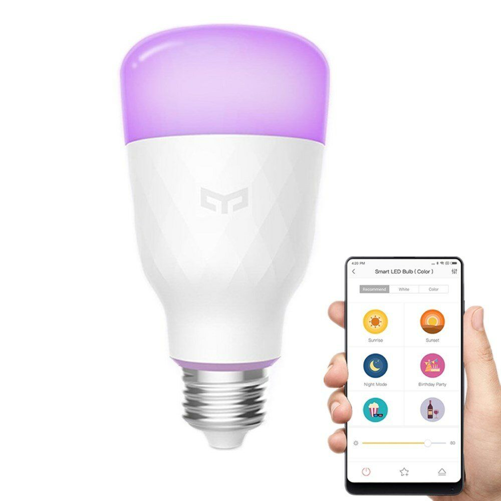 Yeelight YLDP06YL E26 E27 10W RGBW Smart LED Bulb Work With Amazon Alexa AC100 240V (Xiaomi Ecosystem Product)