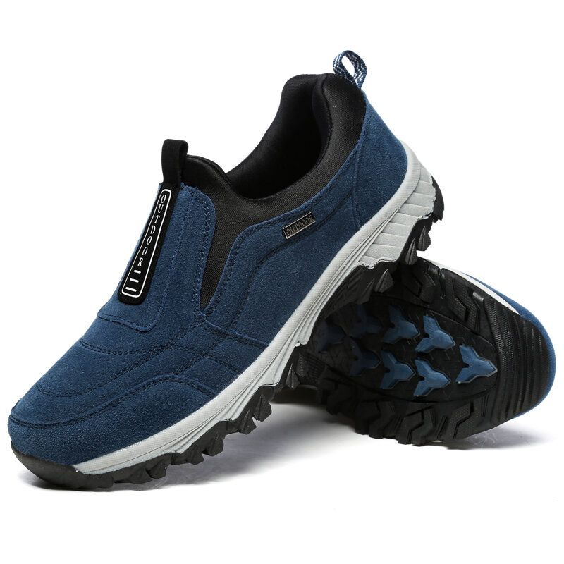 Men Soft Slip On Comfortable Wear Resistance Outsole Outdoor Hiking Casual Sneakers Shoes