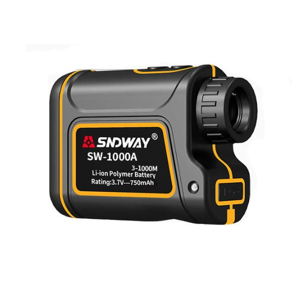 SNDWAY SW 1000A 1000/1500m Distance Meter Rangefinder Waterproof USB Rechargeable Hunting Campact Range Finder Spotting Telescope