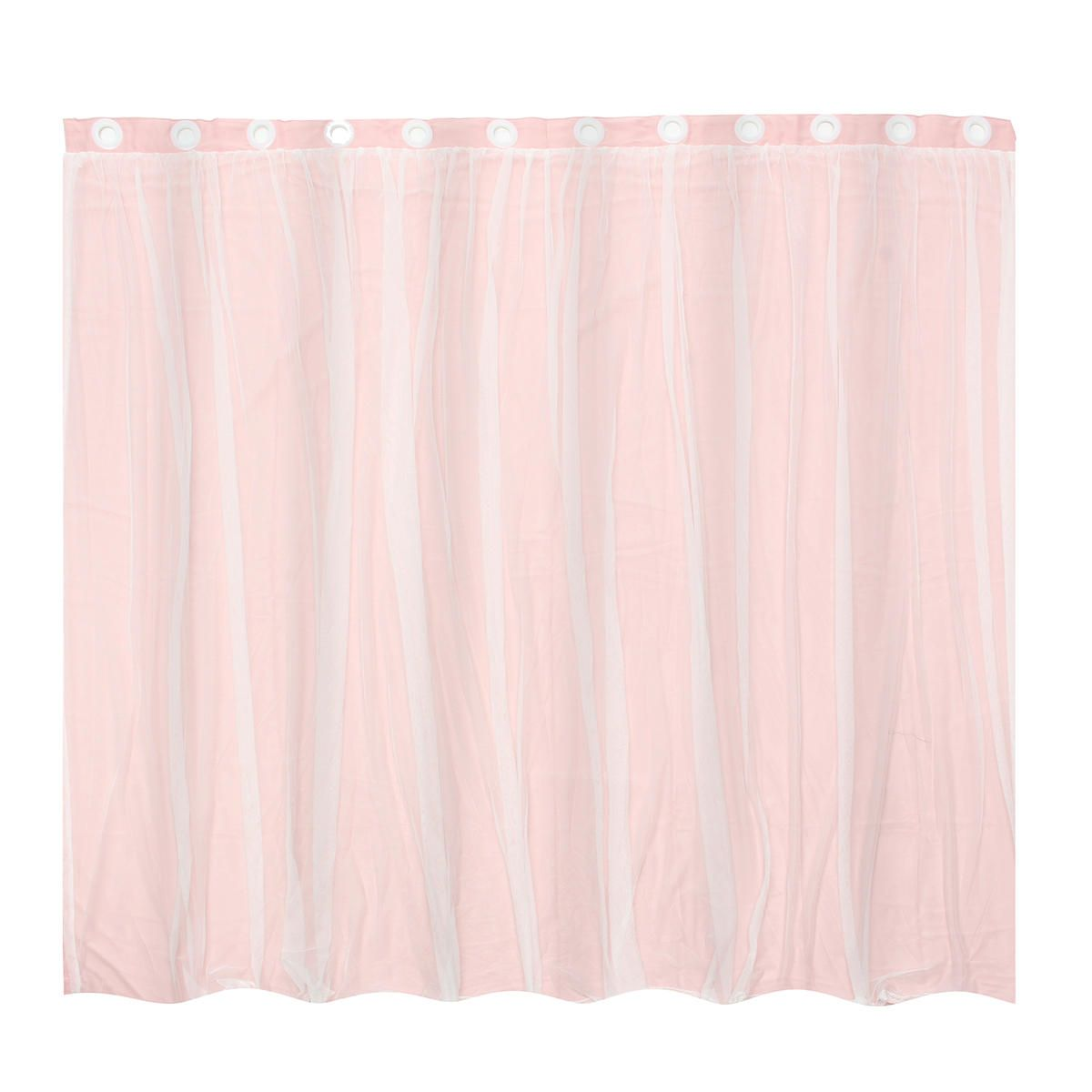 DTF US$38.43~61.93 Mediterranean Blockout Double Layer Bridal Lace Sheer Eyelet Curtains Pink White