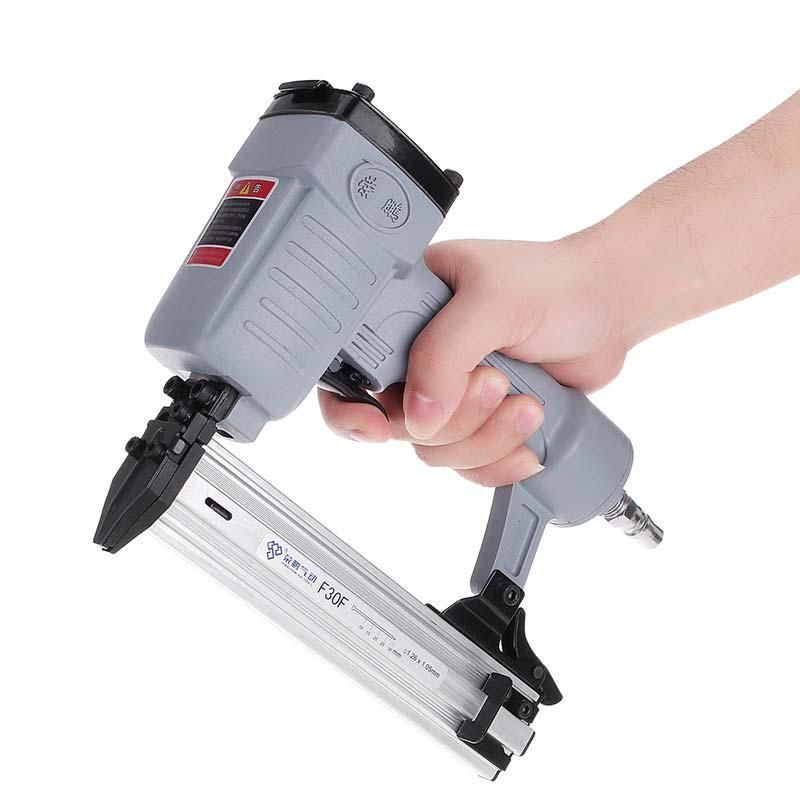 F30F Portable Nail & Staple Gun Nailing Tool For Framing Woodworking Decoration